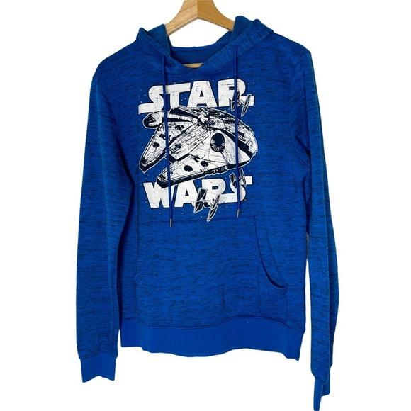 Star Wars Blue Hoodie Sweatshirt Unisex Small